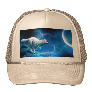 Wolf and Moon Trucker Hat