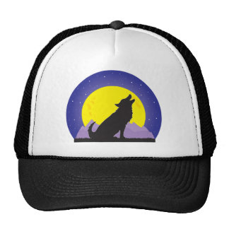 Wolf and Moon Cap