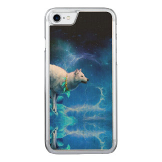 Wolf and Moon Carved iPhone 8/7 Case