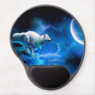 Wolf and Moon Gel Mouse Pad