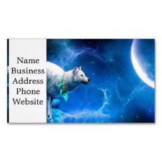 Wolf and Moon Magnetic Business Cards