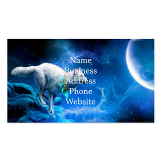 Wolf and Moon Pack Of Standard Business Cards
