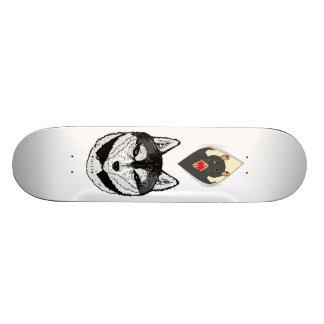 wolf and rat custom skate board