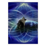 Wolf and the dreamcatcher greeting cards