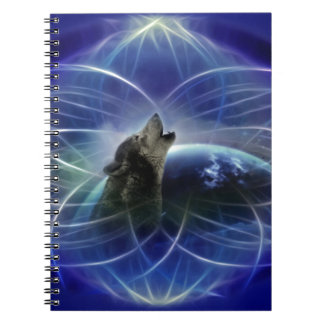 Wolf and the dreamcatcher spiral notebook