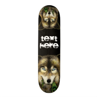 Wolf and Unlucky Little Guy Skate Board Deck