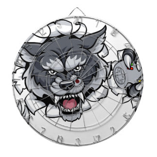 Wolf Animal Esports Gamer Mascot Dartboard