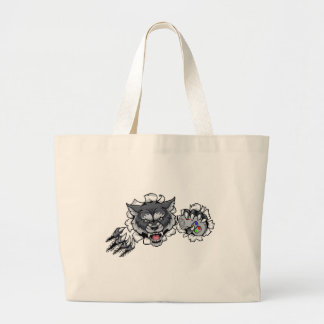 Wolf Animal Esports Gamer Mascot Large Tote Bag