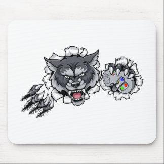 Wolf Animal Esports Gamer Mascot Mouse Mat