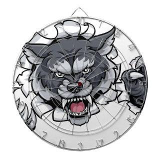 Wolf Animal Sports Mascot Breaking Background Dartboard