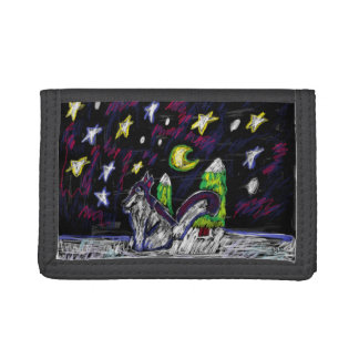Wolf art 4 trifold wallet