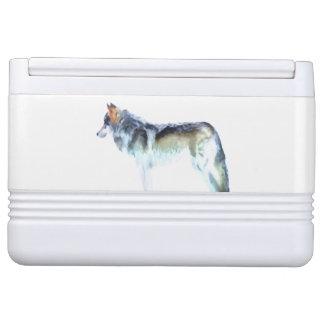 Wolf Art Igloo Cooler