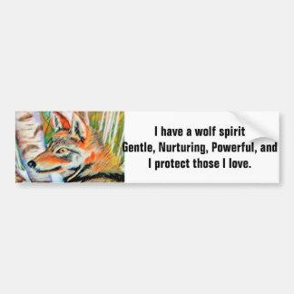 Wolf Art Illustration Bumper Sticker