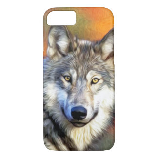 Wolf Art Painting Image iPhone 8/7 Case