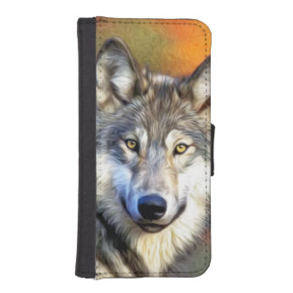 Wolf Art Painting iPhone SE/5/5s Wallet Case