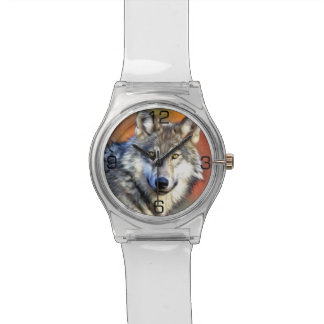 Wolf Art Painting Watch