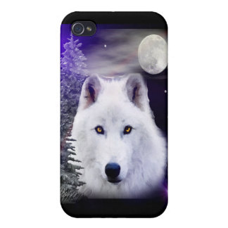 wolf at night iPhone 4 cover