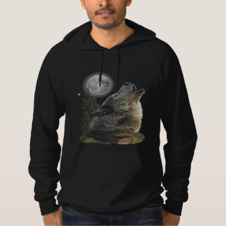 Wolf at Night t-shirts