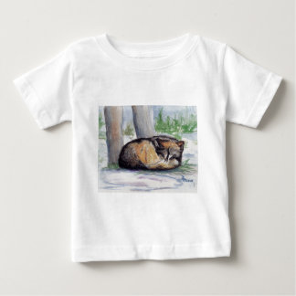 Wolf At Rest Infant Christmas T-shirt