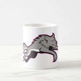Wolf Attacking Mug