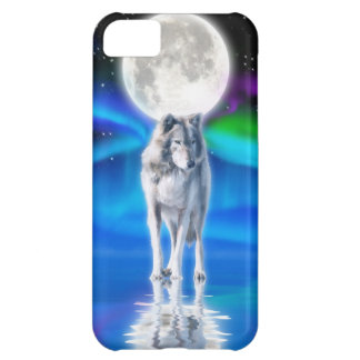 Wolf, Aurora & Moon Wildlife Art iPhone 5 Case