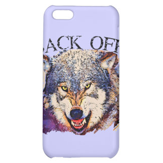 WOLF ... BACK OFF! iPhone 5C CASE