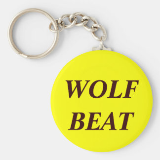 WOLF BEAT BASIC ROUND BUTTON KEY RING