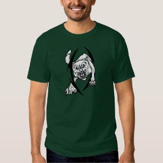 Wolf bites shirt