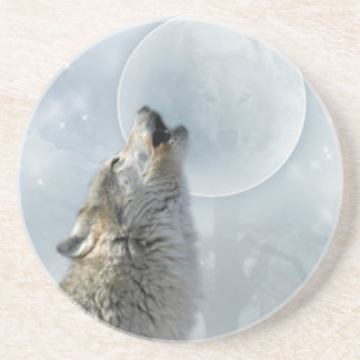 Wolf Blue Moon coasters