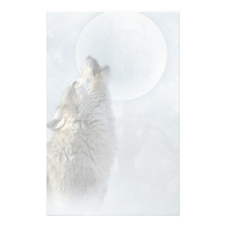 Wolf Blue Moon stationery