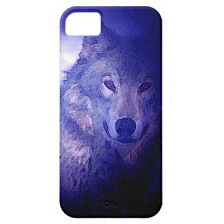 Wolf & Blue Night iPhone 5 Case