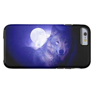 Wolf & Blue Night Tough iPhone 6 Case