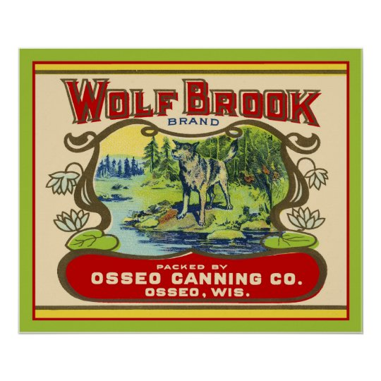 Wolf Brook Wisconsin Poster
