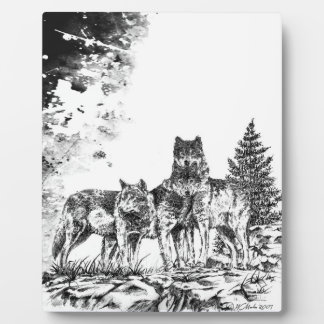 Wolf Brothers Decorative Plaque