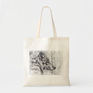 Wolf by schukina tote bag