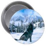 Wolf Call 10 Cm Round Badge