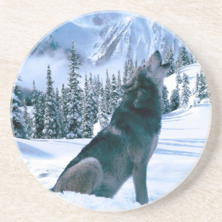 Wolf Call Beverage Coasters