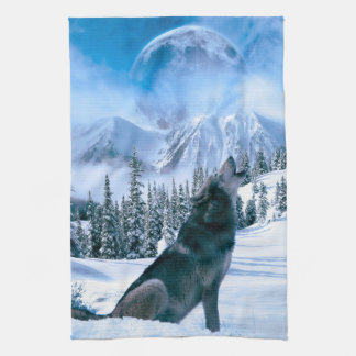 Wolf Call Tea Towel