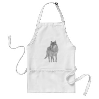 Wolf Canis wildly luggage herd howl moon spirit Aprons