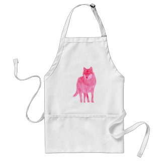 Wolf Canis wildly luggage herd howl moon spirit Apron