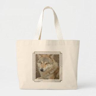Wolf Canvas Bag