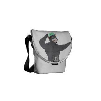 WOLF CAPE BAGS/SATCHELS WOLF CAP COURIER BAGS