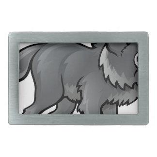 Wolf Cartoon Character Belt Buckles