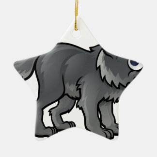 Wolf Cartoon Character Christmas Ornament