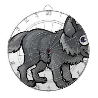 Wolf Cartoon Character Dartboard