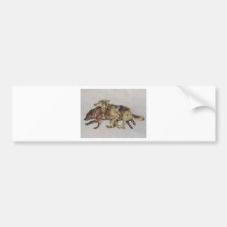 Wolf Chase Bumper Sticker
