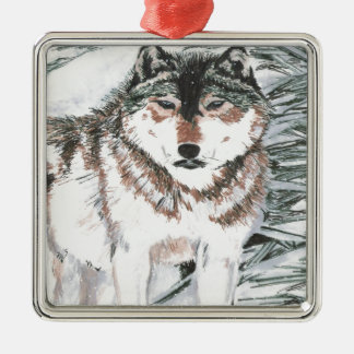 Wolf Christmas Ornament