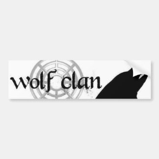 wolf clan bumpersticer bumper sticker