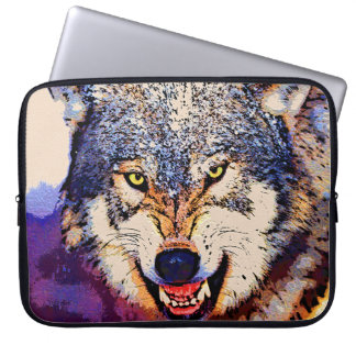 WOLF CLOSE-UP Laptop Sleeve