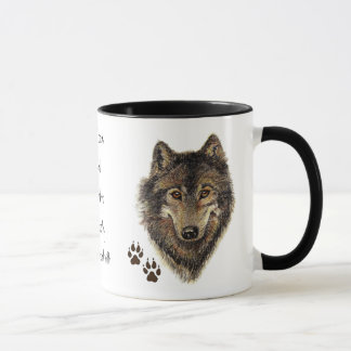 Wolf Code Quote, Wolves Animal Mug